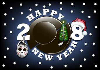 Happy new year 2018 and  hockey