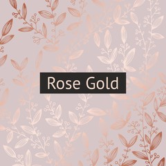 Rose gold. Floral luxury background for sales, design