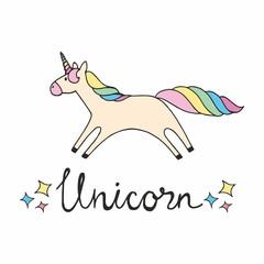 Unicorn. Colorful vector illustration for design