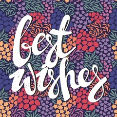 Best wishes. Colorful vector greeting card