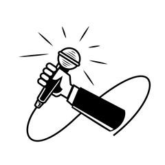 hand held microphone illustration