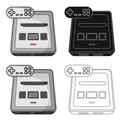 Game console single icon in cartoon,black,outline style for design.Car maintenance station vector symbol stock web illustration.
