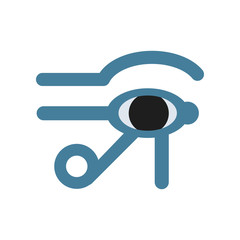 Eye of Horus Egypt Deity, eye of Ra, antique Egyptian hieroglyphic mystical sign, symbol of ancient Egypt, traditional Egyptian culture vector Illustration