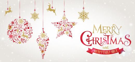 Decorazione natalizie, glitter, oro