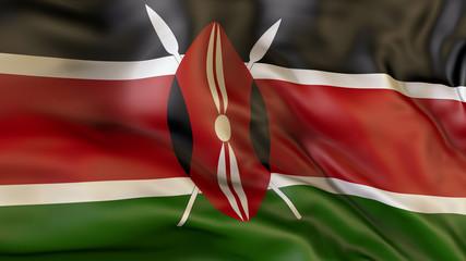 Flag  of Kenya. Kenya Wall mural