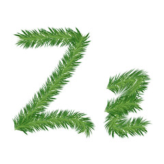 Pine or Fir Tree Letter z