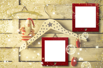 Christmas two photo frames cards