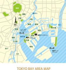 東京湾岸エリアマップ(日本語)