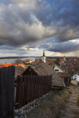 Old part of Zemun,Serbia with Saint Nicholas church