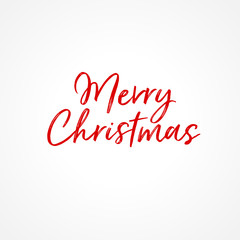 Merry Christmas Greeting Card. Vector EPS 10 calligraphic lettering. For your print and web messages : greeting cards, banners, posters, gifts.