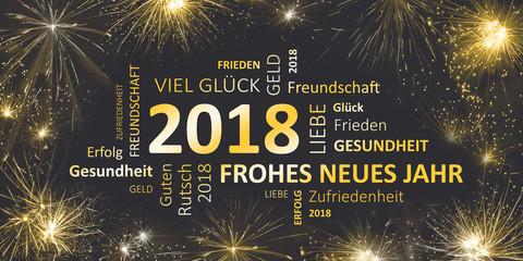 frohes neues jahr 2018 Karte für Silvester