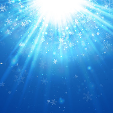 Lightburst with Snow