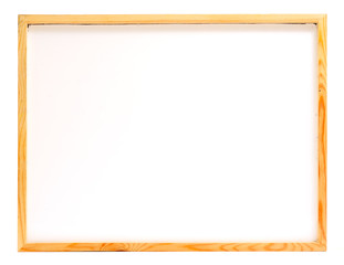 Wooden frame whiteboard isolated on white background
