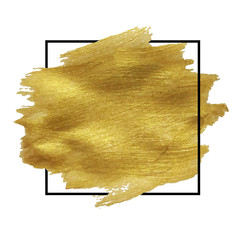 Golden Blob Isolated