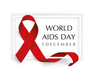 Aids Awareness. World Aids Day concept - stock vector.