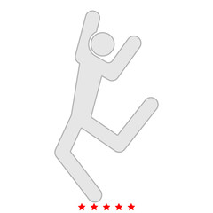 Dancer stick icon .  Flat style