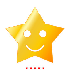 Smiling star icon .  Flat style