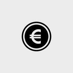 Euro flat vector icon