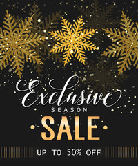 Exclusive Season Sale Lettering