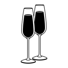pair of champagne glass cheers drink celebration christmas