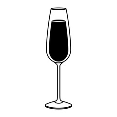 the glass of champagne drink beverage liquid icon