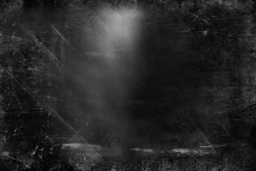 Black and White Blurry GrungeTexture Dirty Surface. Dark Tonality.