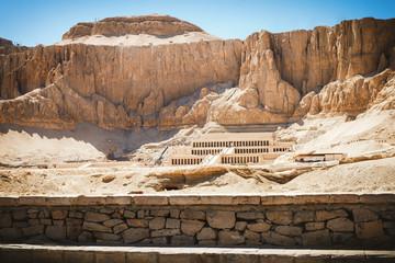 Palace of Hatshepsut in the desert mountain, Luxor, Egypt