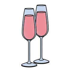 pair of champagne glass cheers drink celebration