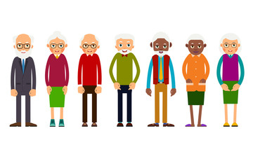Group older people