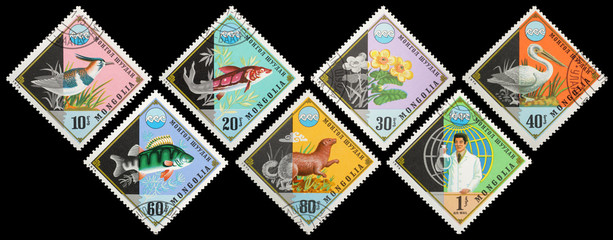 Postage stamps. Mongolia. Environmental Protection