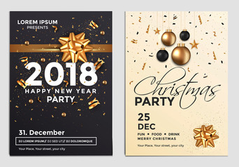 Christmas Party Flyer Design- golden design 3