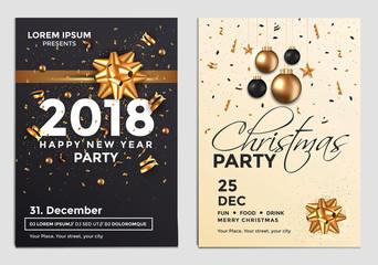 Christmas Party Flyer Design- golden design 3