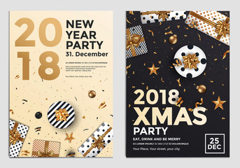 Christmas Party Flyer Design- golden design 4