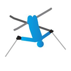 Abstract ski jumping symbol