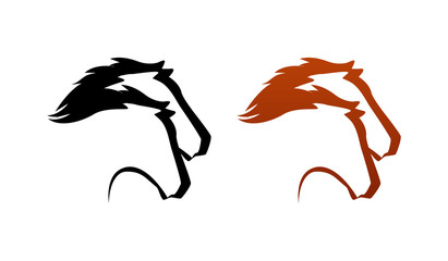 Line art Horse Logo