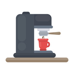 Isolated coffee machine.