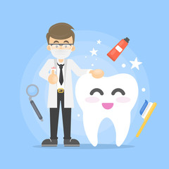 Dental care illustration.