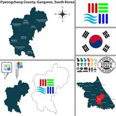 Pyeongchang County in Gangwon, South Korea