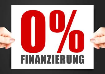 0% Finanzierung – Button, Icon