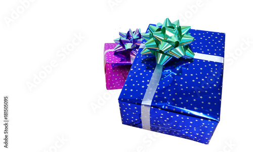 christmas and happy new year theme backgroundgift with white background