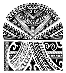 Maori style sleeve ornament