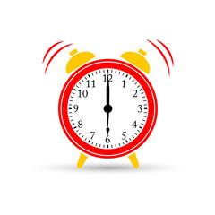 Wake up. Alarm clock icon, vector illustration.