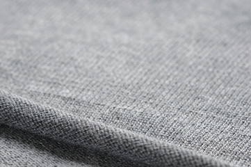 Background of gray knitted fabric