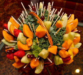 Fruit basket arrangement