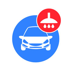 Car wash vector  icon isolated  on white background.