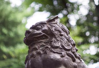 鳩森八幡神社の狛犬