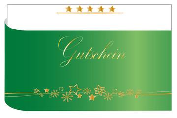 Weihnachten - Hintergrund Gutschein abstrakt mit Sternen