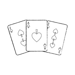 poker cards spade casino deck gambling design