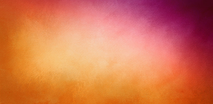 warm orange and purple background with faint texture, Thanksgiving or autumn colors in gradient light golden color to deep violet purple corner design, elegant classy website banner or header