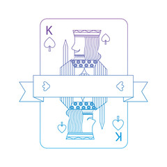 king of spades suit emblem  french playing cards related icon ic